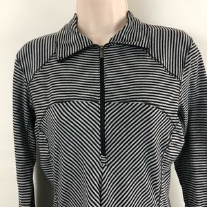Columbia Tops - Columbia Striped 1/2 Zip Pullover Sz S